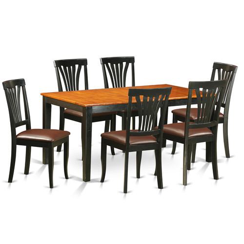 East West Nicoli 6 Piece Dining Set: East West Furniture Nicoli 7 Piece Dining Set