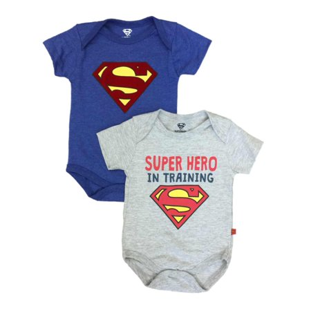 Infant Boys 2 Piece Superman Bodysuits Super Hero In Training Baby Outfit](Superhero Bodysuit)