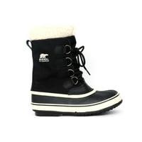 SOREL Women's Winter Carnival Waterproof Winter Boots (Black/Stone, 6)