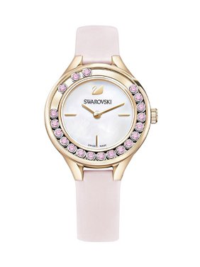 Lovely Crystals Mini Leather Ladies Watch 5376089