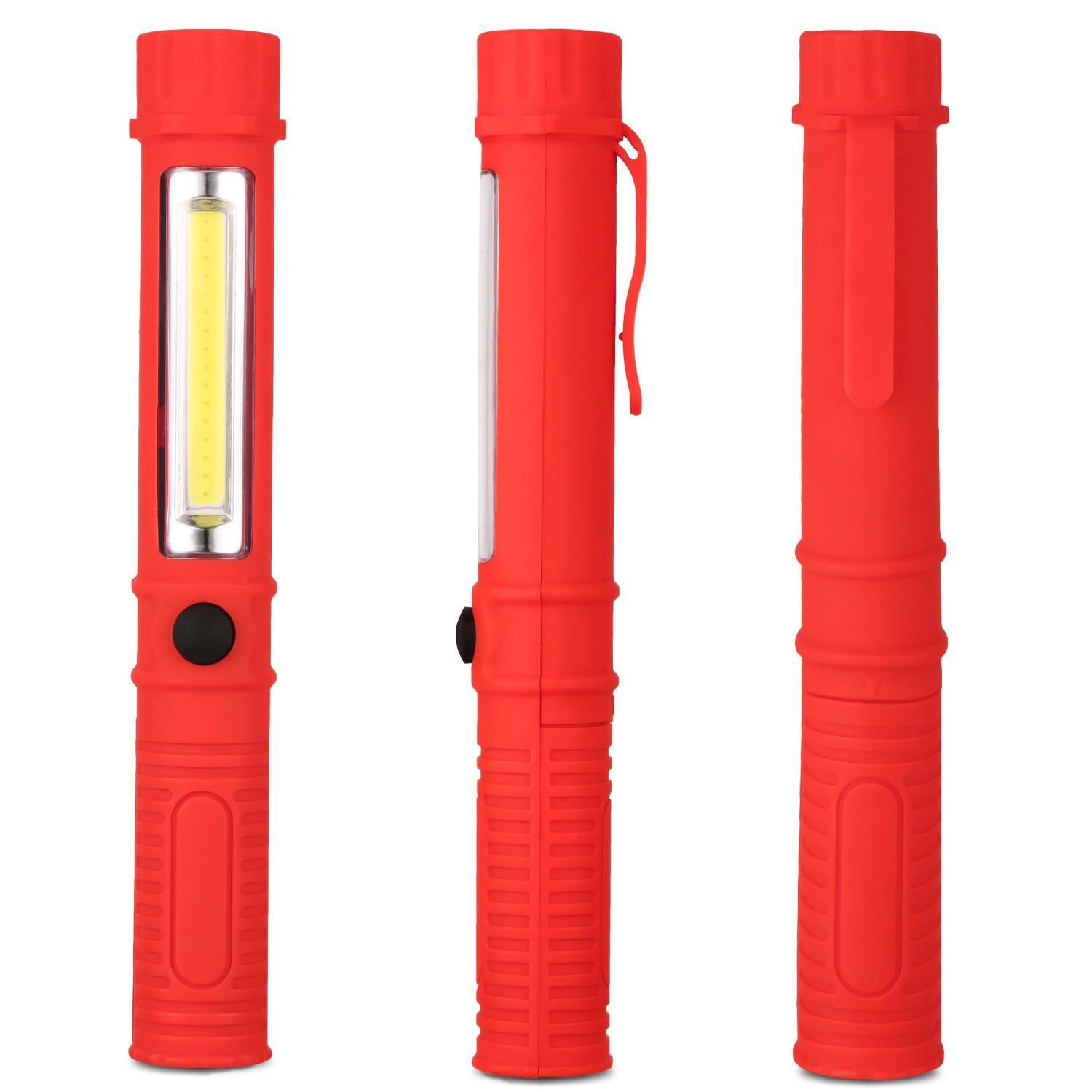 Portable COB LED Flashlights – Powerful 400 Lumen with Magnetic Base Flood Light 165 FT Range,7 Working Hours