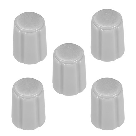 5pcs 6mm Potentiometer Control Knobs For Electric Guitar Volume Tone Knobs Grey