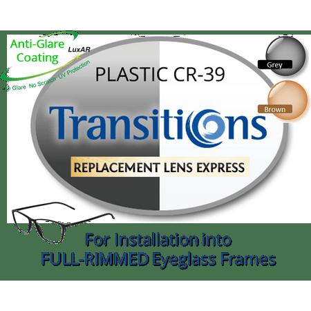 Single Vision Transitions Plastic Cr39 Prescription