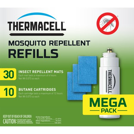 Thermacell Mosquito Repellent Refills, 120-Hour Pack; Contains 30 Mats and 10 Fuel