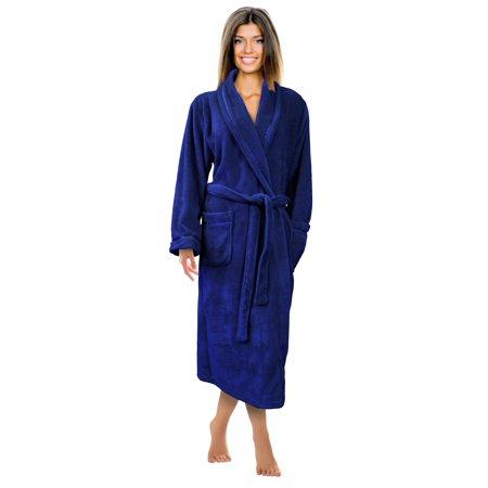 Napa womens super soft warm microfiber fleece plush bathrobe napa womens super soft warm microfiber fleece plush bathrobe hotel spa robe with pockets sciox Image collections