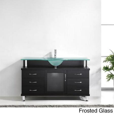 Virtu Usa Vincente 55 Inch Single Sink Bathroom Vanity Set Walmartcom