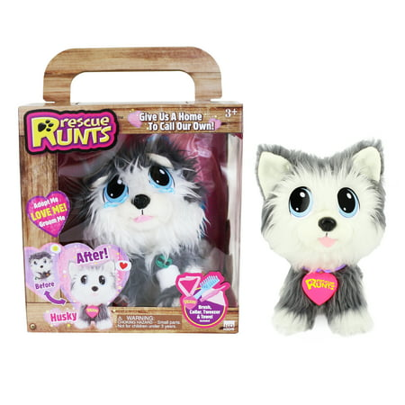 Rescue Runts - Husky - Rescue Dog Plush by KD Kids