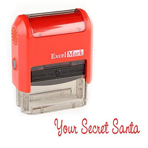 Secret Santa Rubber Stamp