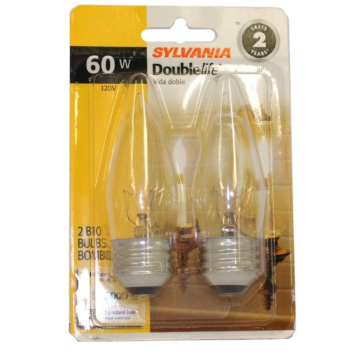 Osram Sylvania 60W 120V B10 E26 Incandescent lamp - 2 Bulbs