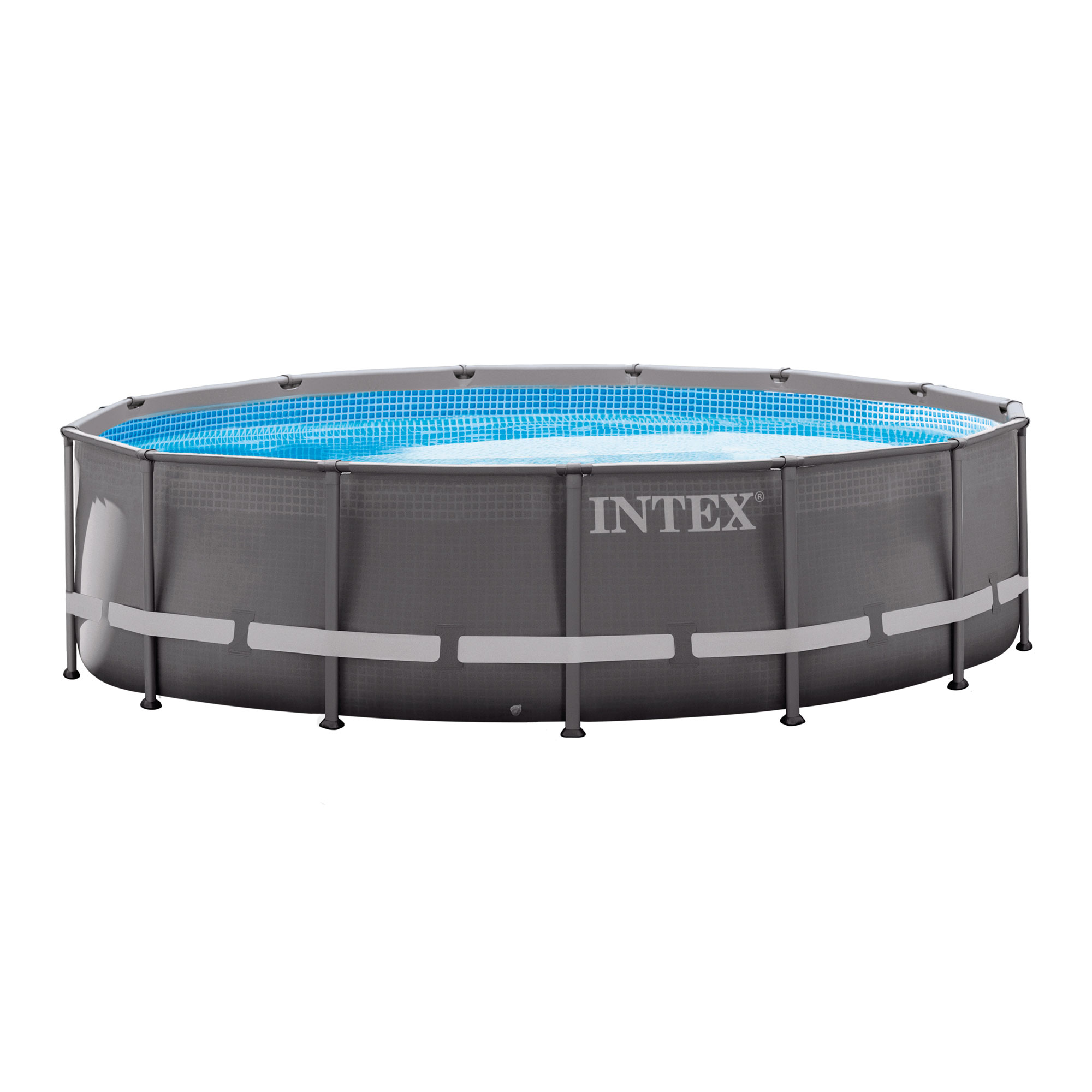 """Intex 14' x 42"""" Ultra Frame Above Ground Swimming Pool Set with Ladder & Pump by Intex"""