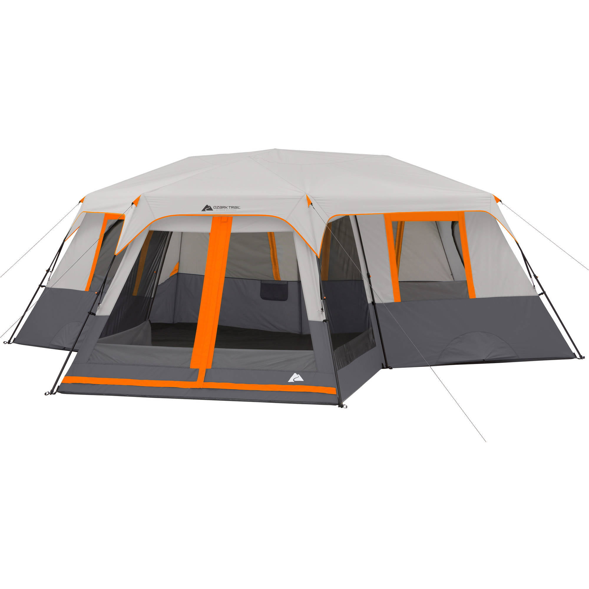 Ozark Trail 12-Person 3-Room Instant Cabin Tent with Screen Room - Walmart.com  sc 1 st  Walmart & Ozark Trail 12-Person 3-Room Instant Cabin Tent with Screen Room ...