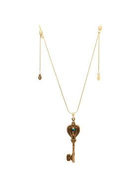 Alex And Ani Raven Key Pendant Rafaelian Gold Finish Necklace A16EN33RG
