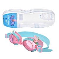 PEPA PIG Kid's Swim Goggles With Reusable Storage Case