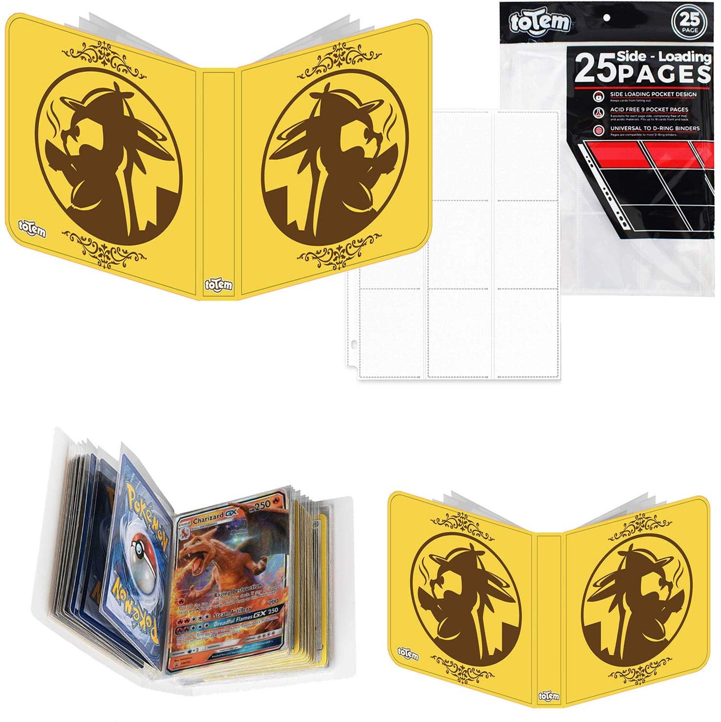 Totem World Detective Pikachu Inspired 3-Ring Binder With