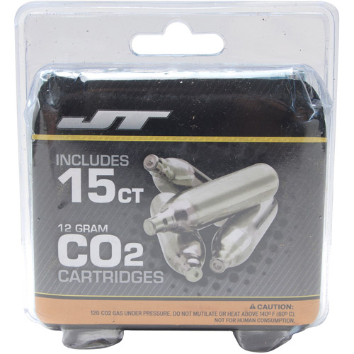 JT 12 Gram CO2 Cartridges, 15pk