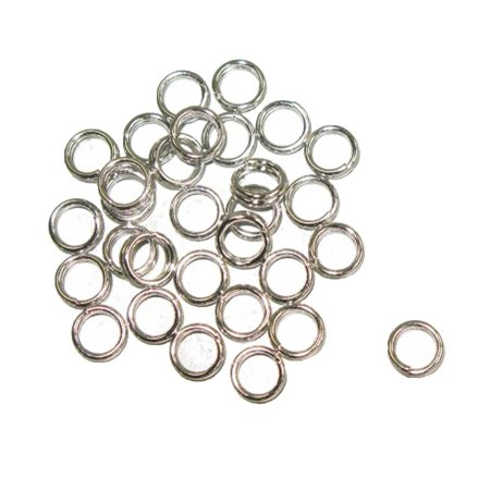Metal Split Rings Nickel Color 100 Pack Jewelry Findings - 6 Sizes Lead Free Nickel Free - image 4 de 14