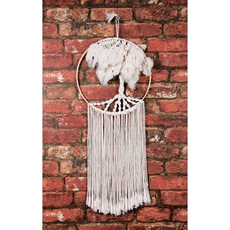 Solid Oak Kit Macrame Wall Hanging Tree