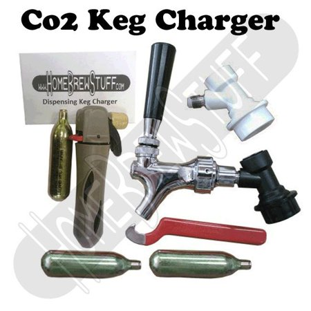 Co2 Keg Charger Draft Dispensing System Faucet and Ball Lock Fitting Homebrew