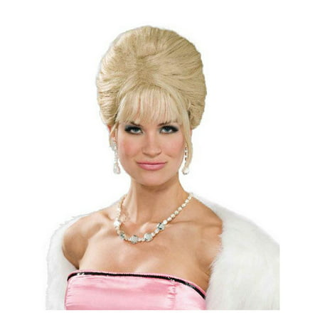 Blonde High Society Adult Halloween Costume Accessory Wig (Conehead Wig Halloween Costumes)