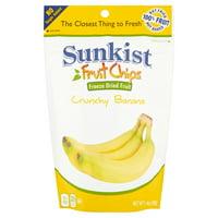 Sunkist Banana Slices, Crunchy Freeze Dried Fruit Chips, 1.4 oz