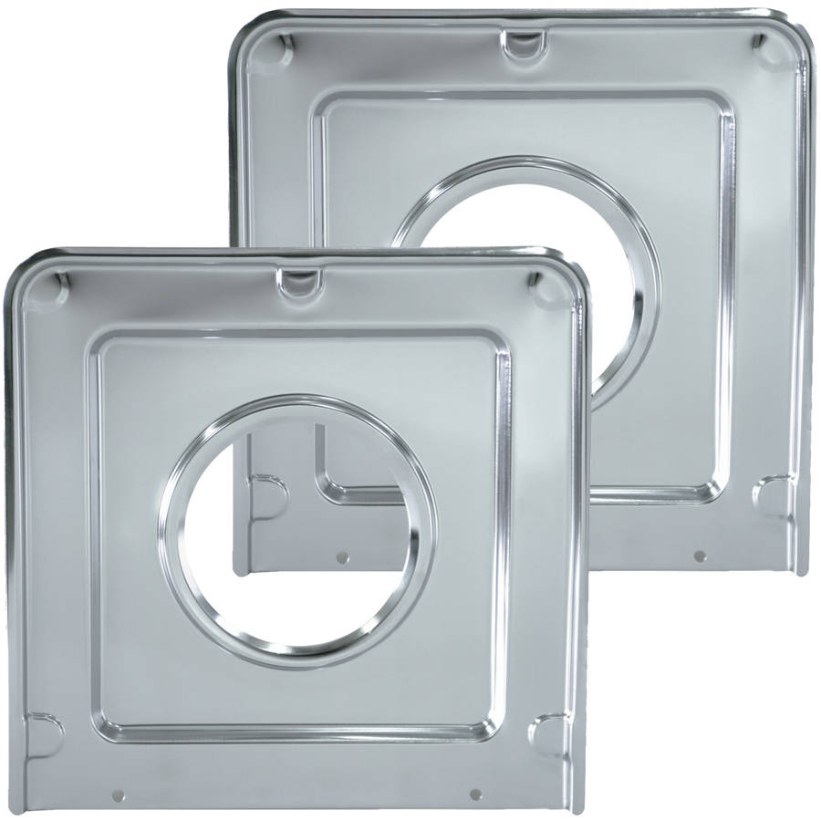 Range Kleen Drip Pans, Style J, Chrome, Set of 2