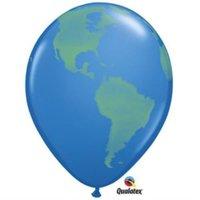 World Globe Qualatex Latex Balloon
