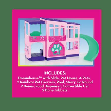 Barbie Deluxe Pet Dreamhouse 15-Piece Doll Playset, Ages 3 +