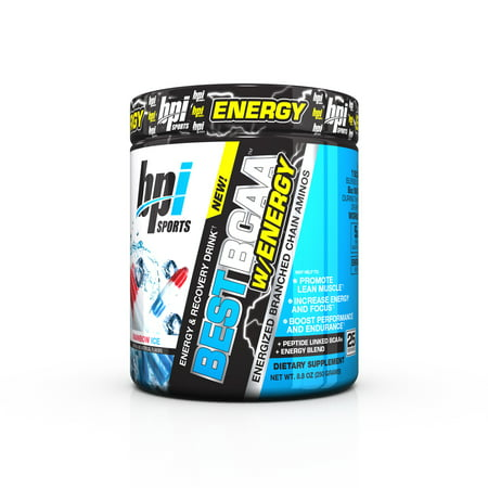 BPI Sports Best BCAA W/ Energy Pre Workout Rainbow Ice, 25