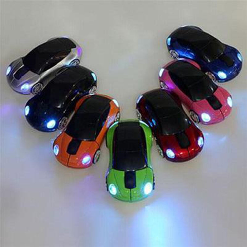 AKDSteel Mini Car Shape 2.4G Wireless Mouse Receiver with USB Interface for Notebooks Desktop Computers