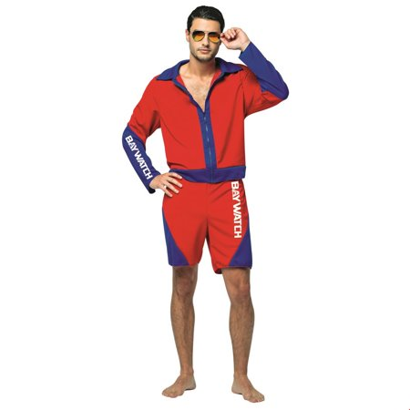 Lifeguard Halloween Ideas (Baywatch - Male Lifeguard Suit Adult Halloween)