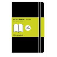 """Moleskine Soft Notebook, 5"""" x 8.25"""", Large, Plain"""