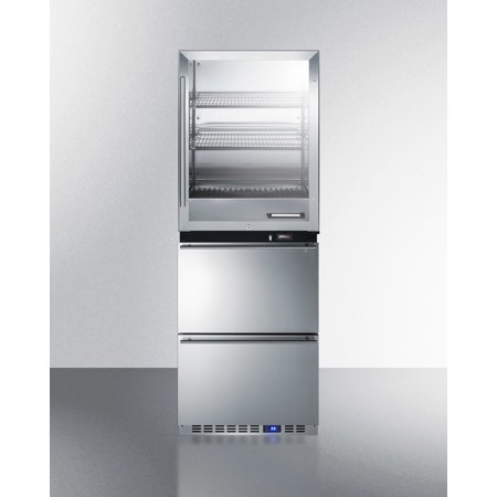Rfbw62d 24  4 Cu  Ft  Upper Warming Cabinet And 3 4 Cu  Ft  Lower Drawer Refrigerator With Digital Thermostat  Energy Efficient Design And Professional Handles In Stainless Steel