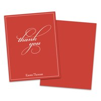 Personalized Script Thank You Folded Note Card