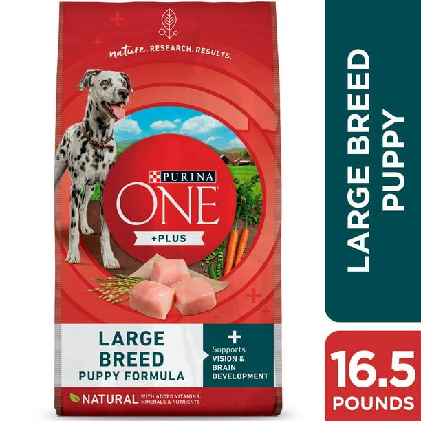 Purina ONE Natural Large Breed Dry Puppy Food, SmartBlend Formula, 16.5 lb. Bag