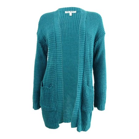 Drop Shoulder Cardigan (Say What? Juniors' Drop-Shoulder Cardigan (M, Green))