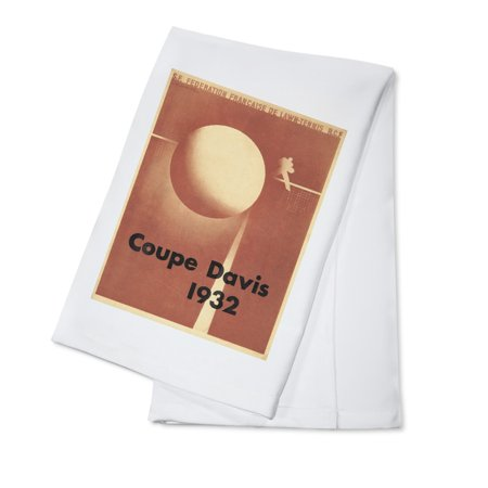 Coupe Davis Vintage Poster (artist: Cassandre, A. M.)  c. 1932 (100% Cotton Kitchen Towel) (Vantage Coupe)