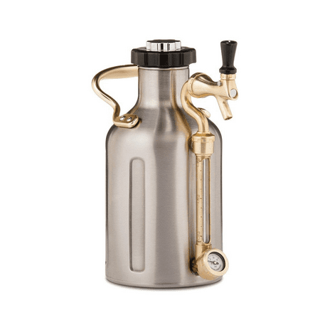 GrowlerWerks uKeg 64 oz Pressurized Growler for Craft Beer - Stainless (Nostalgia Cbd5ss Homecraft On Tap Beer Growler System)