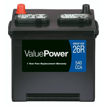 valuepower lead acid automotive battery group 26r. Black Bedroom Furniture Sets. Home Design Ideas