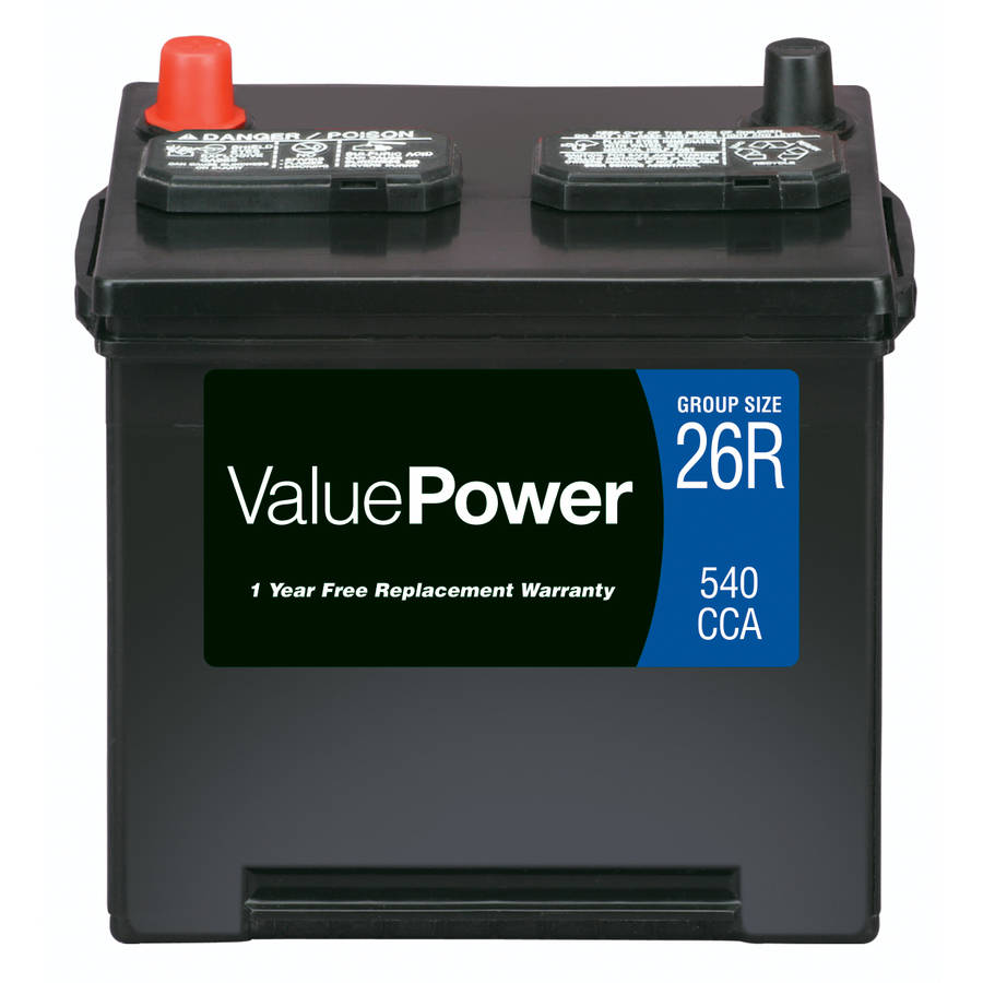 ValuePower Lead Acid Automotive Battery, Group 26R