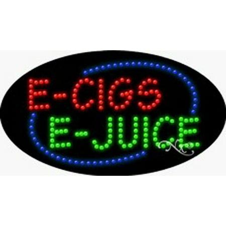 E Cigs E Juice Flashing & Animated LED Sign (High Impact, Energy