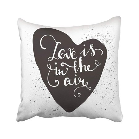 ARTJIA Messy Romantic Heart With Cute Quote For Valentines Day Save The Date Inspirational Pillowcase Throw Pillow Cover 18x18 inches (Cute Romantic Halloween Quotes)