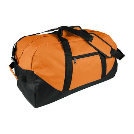 3382914e19ea 21 Large Duffle Bag with Adjustable Strap in Orange - Walmart.com