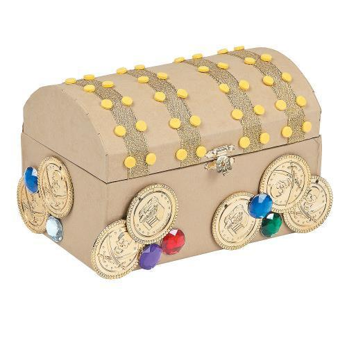 Oriental Trading IN-48/1799 Treasure Chest Craft Kit Make...