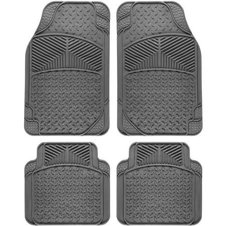 OxGord Universal Fit 4-Piece Full Set Eagle Heavy Duty Rubber Floor Mat,