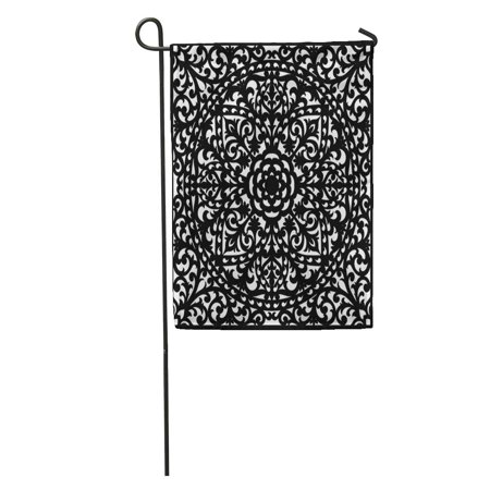 SIDONKU Lattice Panel Lace Pattern Elegant for Laser Cutting Wood Carving Garden Flag Decorative Flag House Banner 28x40 inch