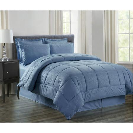 8 Piece Vine Down Alternative Bed In A Bag Bedding Set