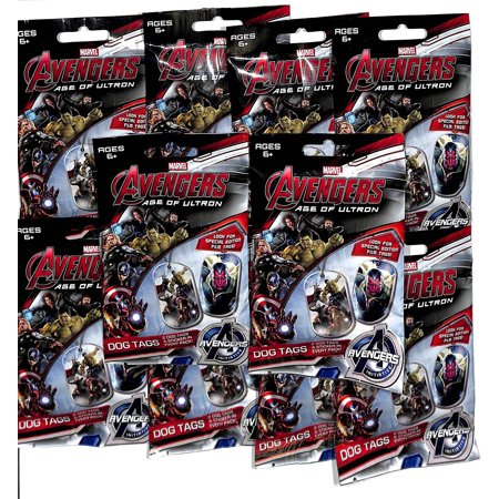 2015 Marvel Avengers Age of Ultron 10 Sealed Dog Tag