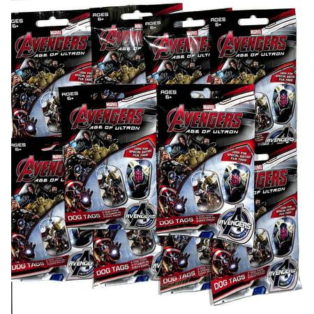 2015 Marvel Avengers Age of Ultron 10 Sealed Dog Tag Packs - Walmart.com