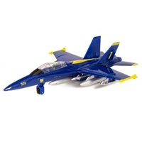 "9"" X-Planes US Navy F-18 Hornet Blue Jet Toy with Pull Back Action"