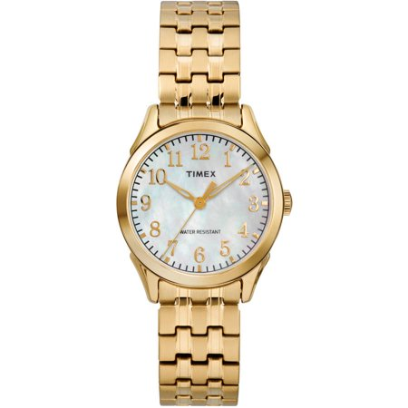 Timex Womens Briarwood Gold Tone Mop Watch  Stainless Steel Expansion Band